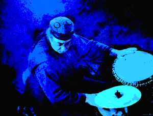 Daveed Kourp playing percussion (www.Daveedkourp.com)