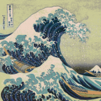 Great Wave off Kanagawa by Katsushika Hokusai via Wikimedia Commons/ pubic domain